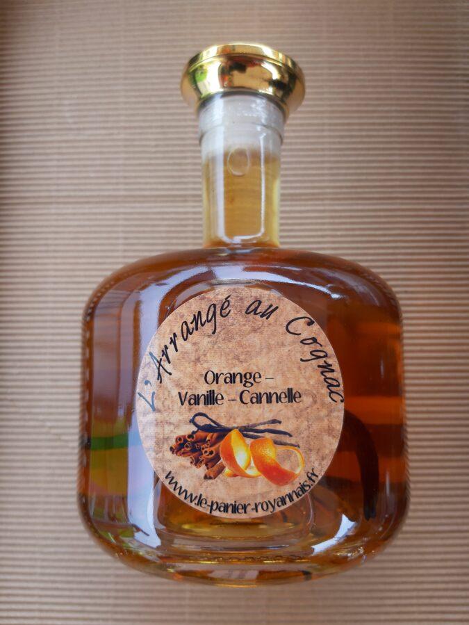 NOUVEAU / Cognac arrangé - Orange, Vanille, Cannelle - 25°