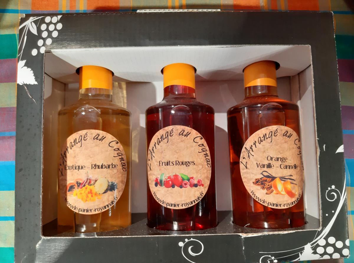 NOUVEAU / Coffret cadeau Cognacs arrangés x3