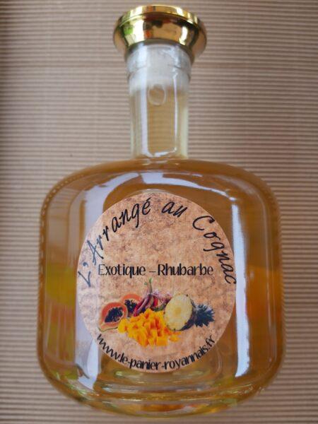 NOUVEAU / Cognac arrangé - Exotic, Rhubarbe - 25°